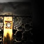 טבעת בזלת עם זהב