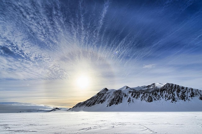 בוקר טיפוסי באנטארקטיקה