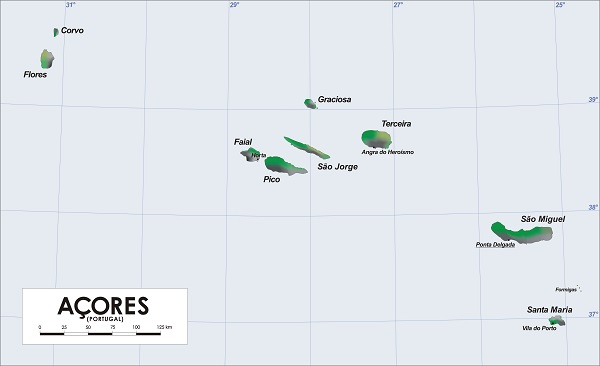 מפת האיים האזוריים