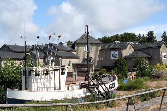 בתים מסורתיים באולנד (Aland) פינלנד